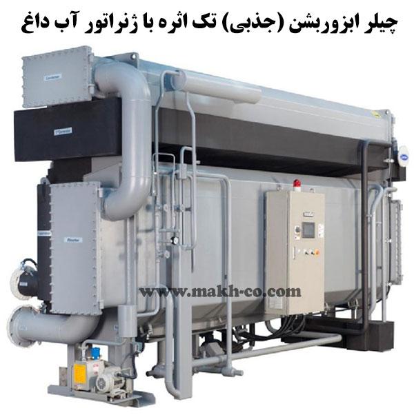 چیلر ابزوربشن (جذبی) تک اثره با ژنراتور آب داغ