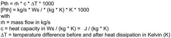 فرمول محاسبه توان حرارتی Thermal power