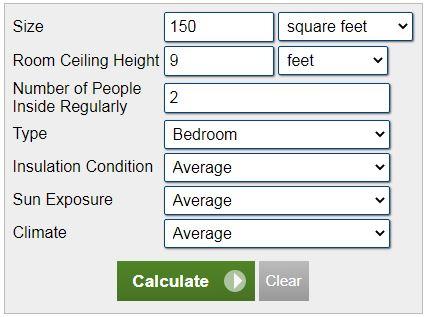 محاسبه بار سرمایشی BTU